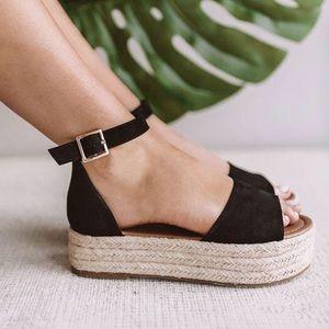 Shoes - NWOT / Box Flat Black Espadrilles